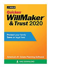 Quicken WillMaker Trust 2020 Mac