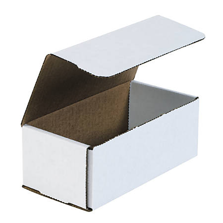 "Office Depot® Brand White Corrugated Mailers, 8"" x 4"" x 3"", Pack Of 50"