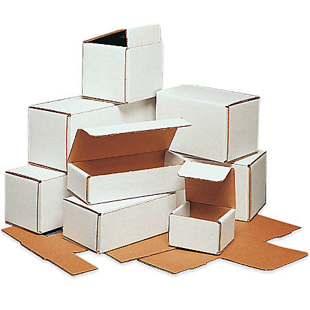 """Office Depot® Brand White Corrugated Mailers, 9"""" x 3"""" x 3"""", Pack Of 50"""