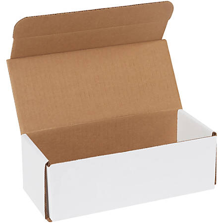 "Office Depot® Brand White Corrugated Mailers, 9"" x 4"" x 3"",, Pack Of 50"