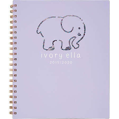 "Cambridge® Ivory Ella Academic Weekly/Monthly Planner, 12 Months, July Start, 8 1/2"" x 11"", Mandala"