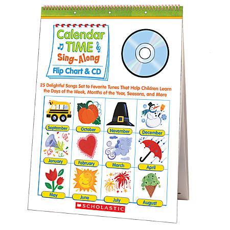 Scholastic Flip Chart/CD — Calendar Time