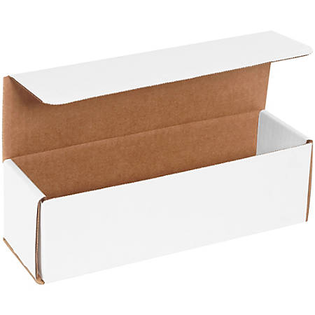 """Office Depot® Brand White Corrugated Mailers, 10"""" x 3"""" x 3"""", Pack Of 50"""