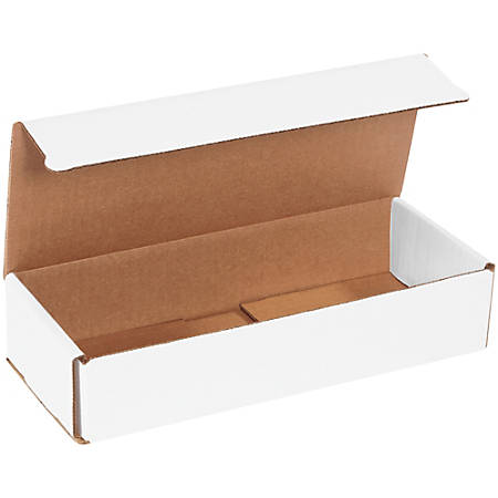 "Office Depot® Brand White Corrugated Mailers, 10"" x 4"" x 2"",, Pack Of 50"