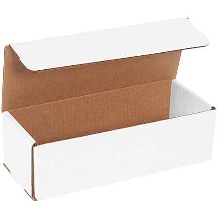 """Office Depot® Brand White Corrugated Mailers, 10"""" x 4"""" x 3"""", Pack Of 50"""