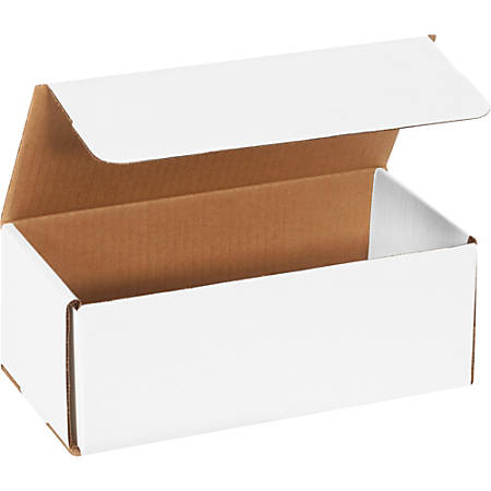 "Office Depot® Brand White Corrugated Mailers, 10"" x 4 7/8"" x 3 3/4"", Pack Of 50"