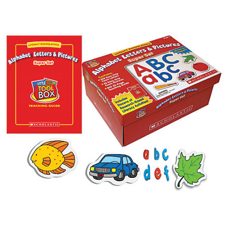 Scholastic Literacy Manipulatives: Alphabet Letters And Pictures Super Set