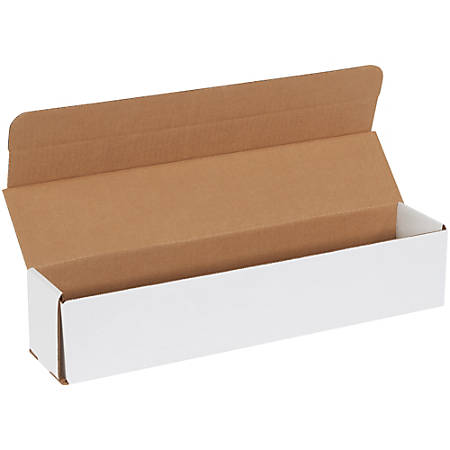 """Office Depot® Brand White Corrugated Mailers, 17 1/2"""" x 3 1/2"""" x 3 1/2"""", Pack Of 50"""