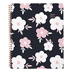 """Cambridge Buttercup Academic Weekly/Monthly Planner, 9 1/4"""" x 11"""", Pink/Blue, July 2019 to August 2020"""
