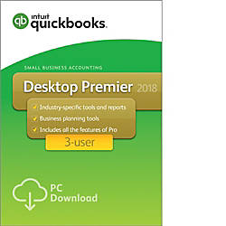 QuickBooks Desktop Premier 2018 For 3