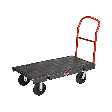 "Rubbermaid® Heavy-Duty Platform Truck Cart, 1000 Lb Capacity, 24"" x 48"", Black"