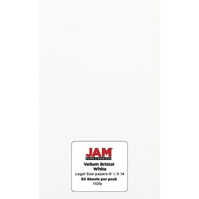 jam paper vellum bristol legal card stock legal paper size 110 lb