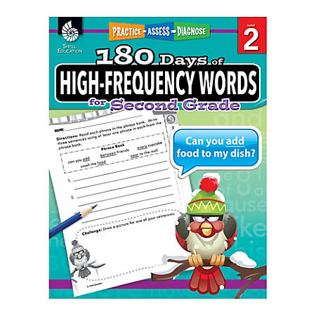 Shell Education 180 Days Of High-Frequency Words, Grade 2