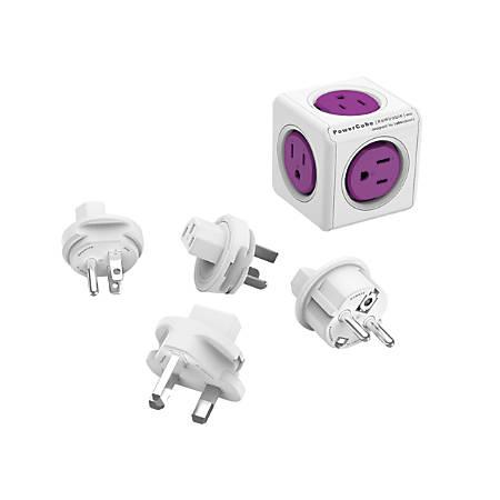 Allocacoc PowerCube ReWirable Original, Purple