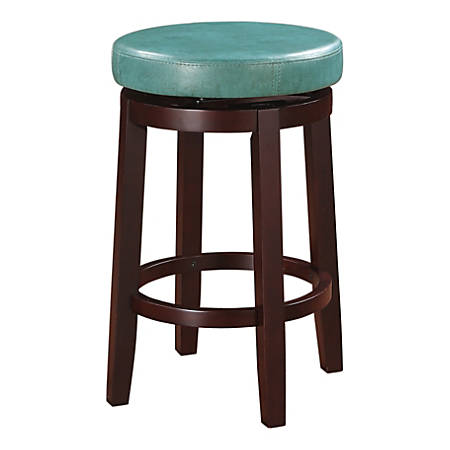 Linon Home Décor Products Alice Swivel Stool, Teal/Brown