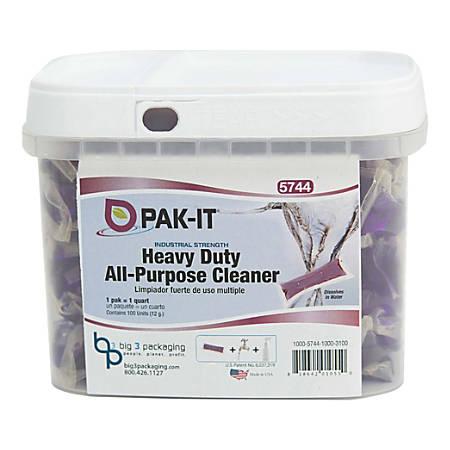 Big 3 Packaging PAK-IT Heavy-Duty All-Purpose Cleaner, Purple, Pack Of 100