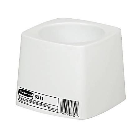 """Rubbermaid Commercial-Grade Toilet Bowl Brush Holder, 5"""" Diameter, White"""
