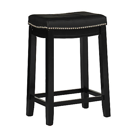 Linon Home Décor Products Walker Backless Bar Stool, Black