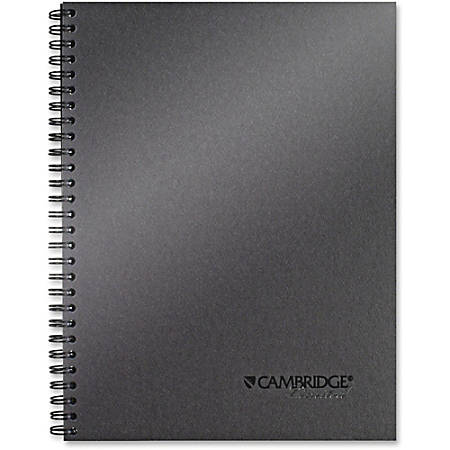 """Mead Titanium 9-12"""" Metallic Notebook - 80 Sheets - Twin Wirebound - 20 lb Basis Weight - 7.5"""" x 9.5"""" - Perforated - Recycled - 1Each"""