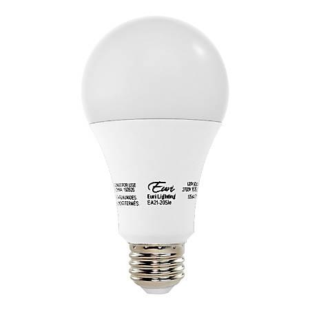 Euri A21 LED Light Bulb, 1600 Lumen, 16 Watt, 3,000K/Soft White, 1 Each