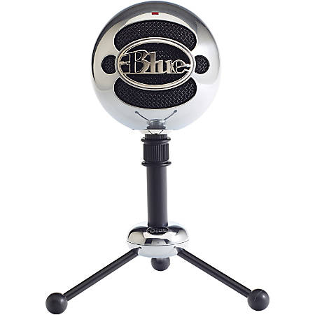 Blue Snowball USB Microphone - Brushed Aluminum - 2 capsule design - Mac and PC compatible - USB - 3 pickup options - 40Hz - 18kHz