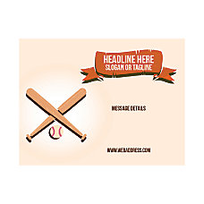 Custom Flyer Horizontal Baseball