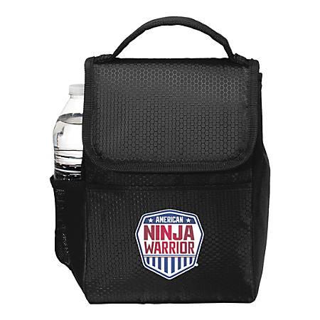 "American Ninja Warrior Lunch Box, 10-1/2""H x 7-1/2""W x 6""D, Black"
