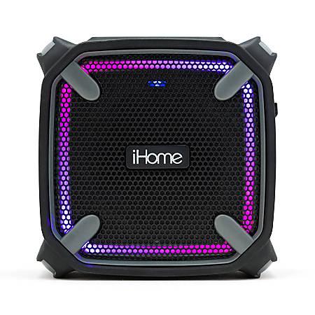 iHome Weather-Tough Bluetooth® Portable Speaker, Black/Gray, IBT371BGC