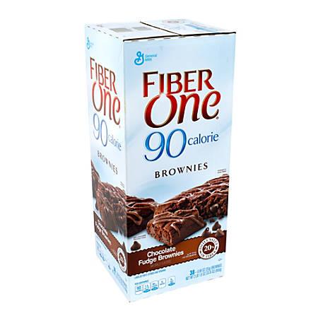 Fiber One 90-Calorie Chocolate Fudge Brownie Bars, Box Of 38