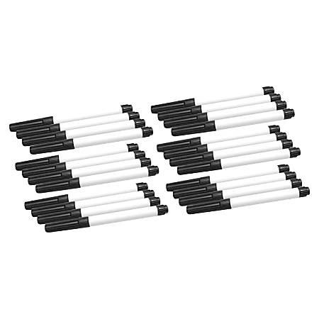 Flipside Dry Erase Pen - Fine Marker Point - Black - 24 / Pack