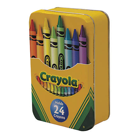 "Crayola® Small Hinged Tin, 4 3/4"" x 3"", Yellow"
