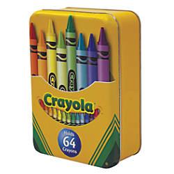 Crayola Large Hinged Tin 6 14