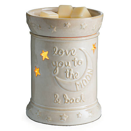 """Candle Warmers Etc Illumination Fragrance Warmer, 8-13/16"""" x 5-13/16"""", Love You To The Moon"""