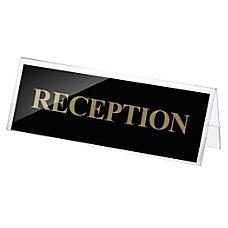 Officemate Plastic Desktop Sign Holder 3