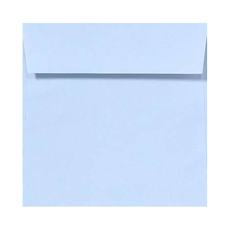 """LUX Square Envelopes With Peel & Press Closure, 6 1/2"""" x 6 1/2"""", Baby Blue, Pack Of 50"""