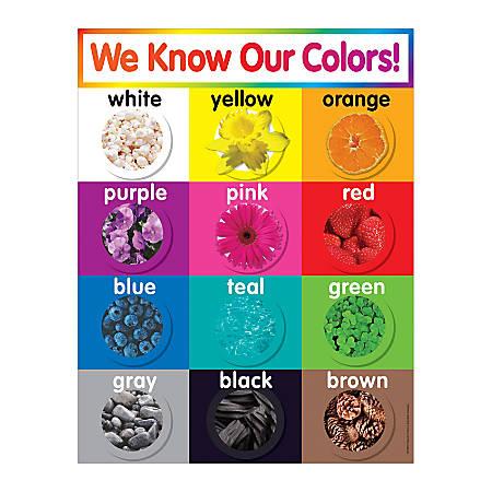 Scholastic Colors Chart