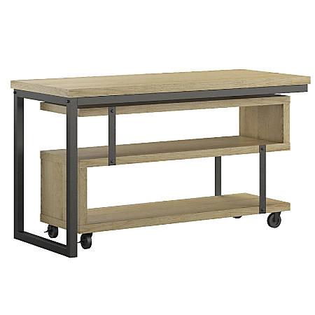 Ameriwood™ Home Ryker L-Shaped Swivel Desk, Brown Oak