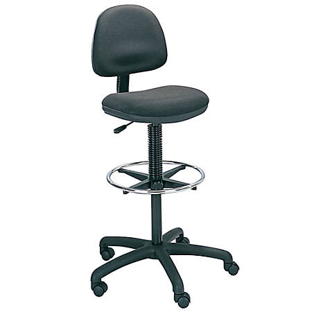 Safco Precision Extended Height Fabric Chair 42 54 H X 25 W D Black Frame Item 700969
