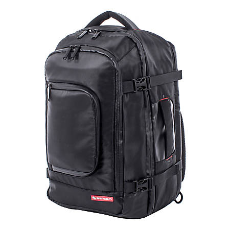 """Swiss Mobility Haven Convertible Backpack With 15.6"""" Laptop Pocket, Black"""