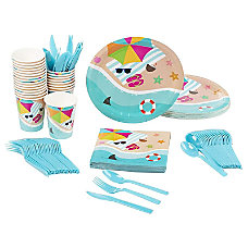 Disposable Dinnerware Set Serves 24 Summer