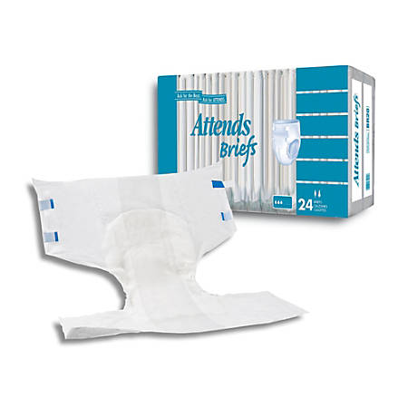 """Attends® Poly Briefs, Large, 45""""-58"""", Box Of 24"""