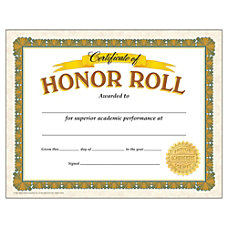 TREND Certificates Honor Roll 8 12
