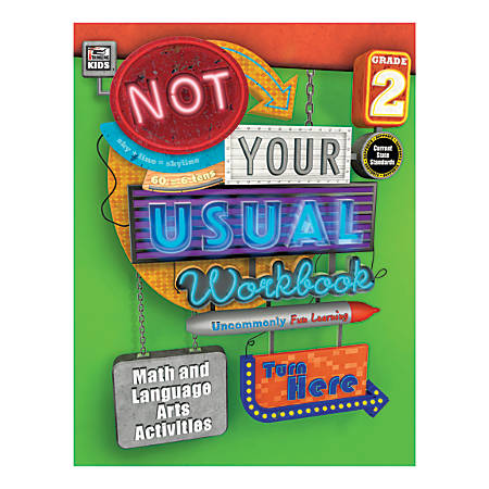 Thinking Kids® Not Your Usual Workbook, Grade 2