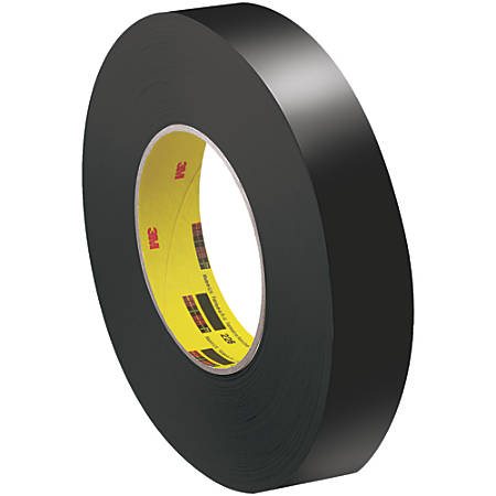 "3M™ 226 Masking Tape, 3"" Core, 1"" x 180', Black, Pack Of 36"