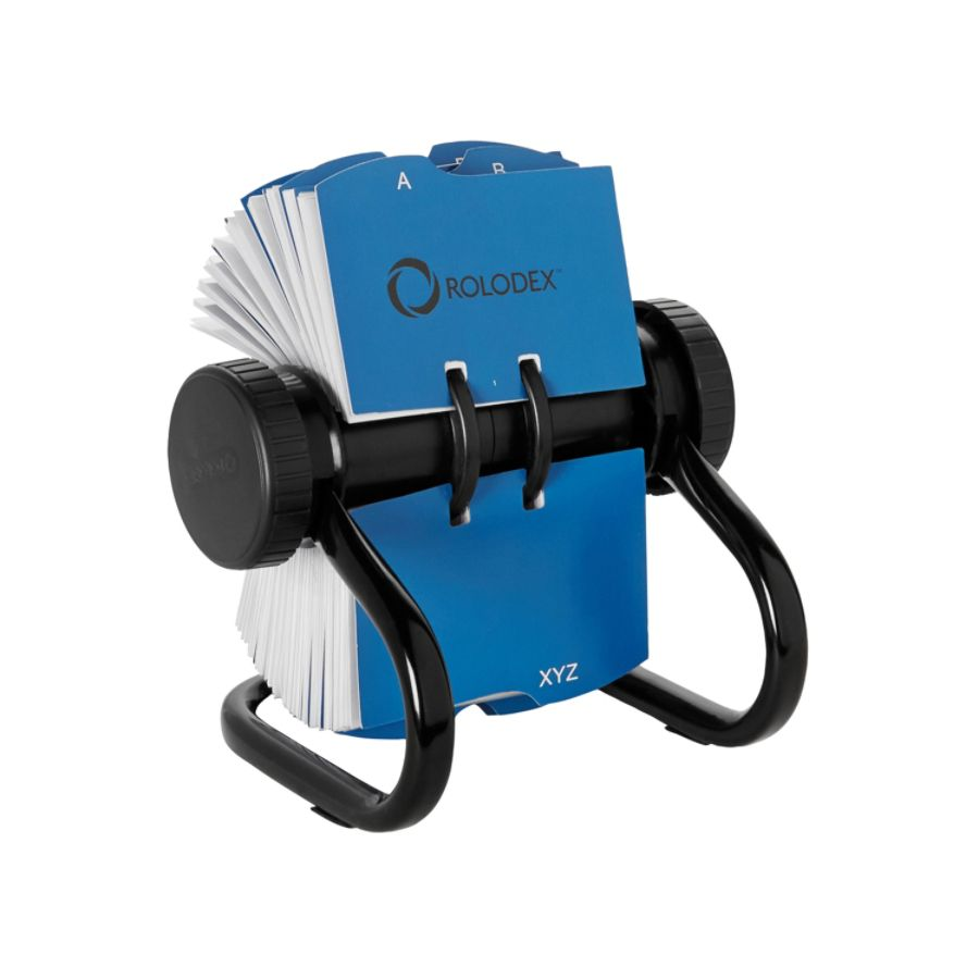 Rolodex Rotary Business Card File 400 Card Capacity Black by