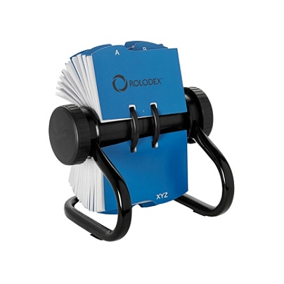 Rolodex Rotary Business Card File 400 Card Capacity Black Office Depot