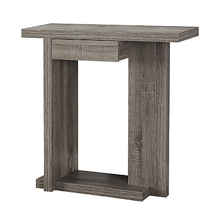 Monarch Specialties Console Table, Single Drawer, Dark Taupe