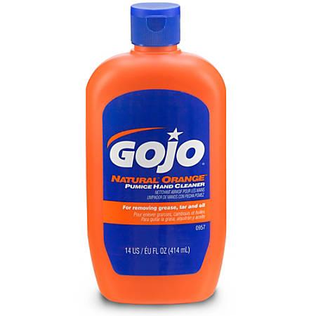GOJO® Natural Orange™ Pumice Hand Cleaner, Citrus Scent, 14 Oz
