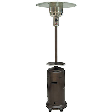 Hanover 7-Ft. Steel Umbrella Patio Heater in Hammered Bronze