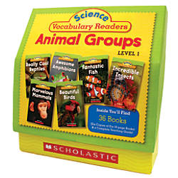 Scholastic Science Vocabulary Readers Set Animal